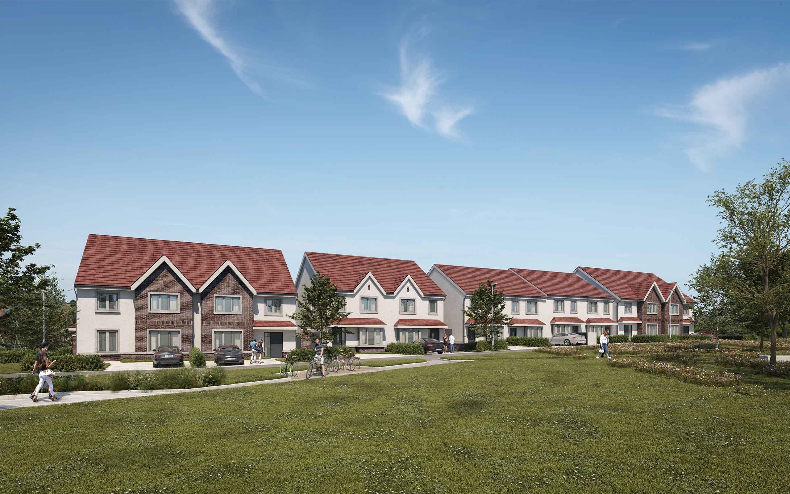 Architectural CGI of Housing Development in Enniskerry.