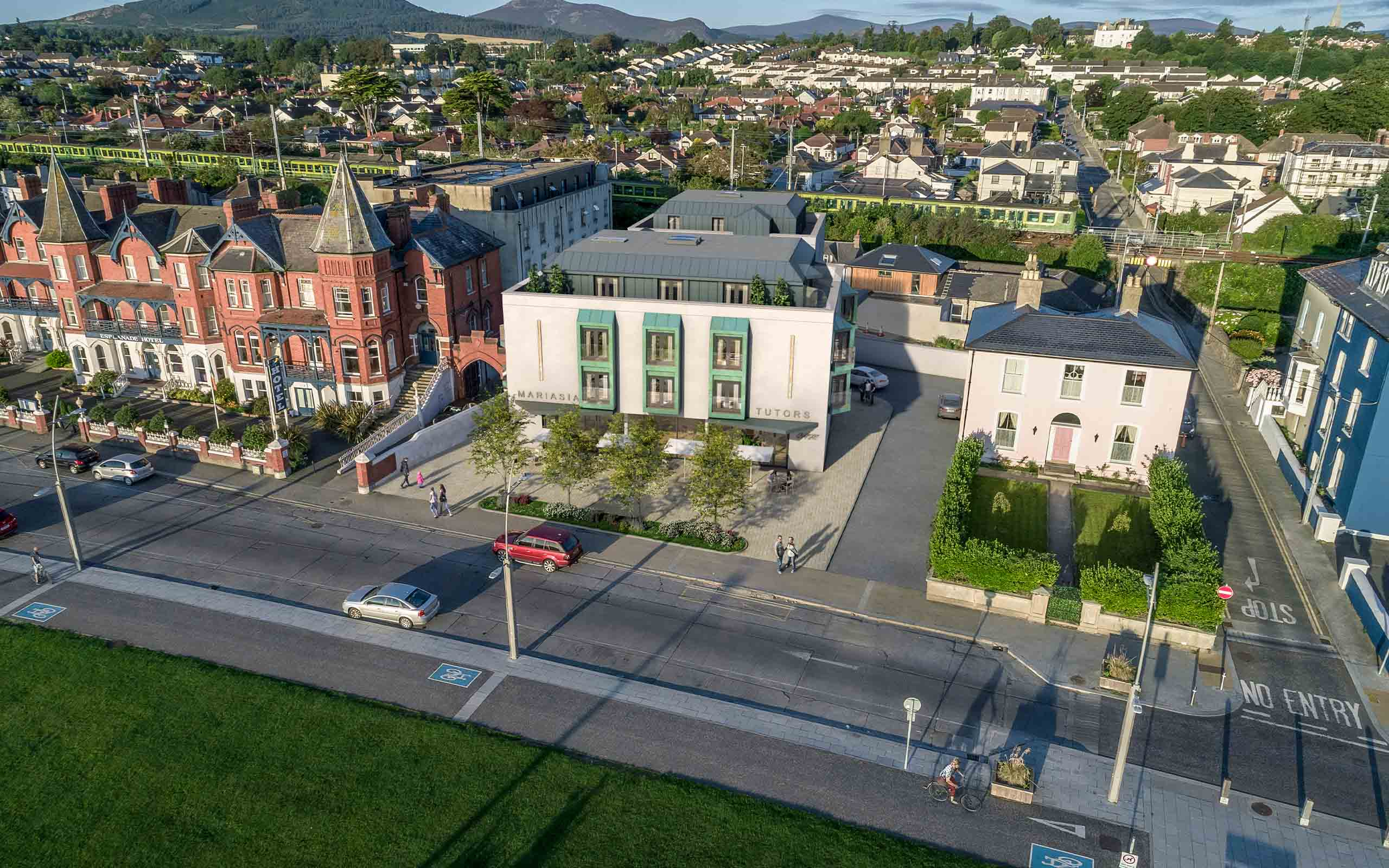 Architectural CGI of Hotel in Bray, Dublin.