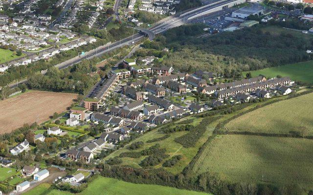 Aerial CGI Montage of 276 new homes approved in Ardarostig, Bishopstown, Cork (proposed).
